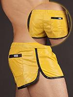 Barcode Shinie Short - yellow/black