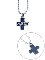 Andrew Christian - Cross Necklace Silver