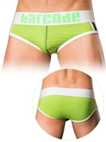 Barcode Brief Dyami neongreen/white