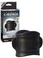 Fantasy C-Ringz - Silicone Ball Stretcher Black