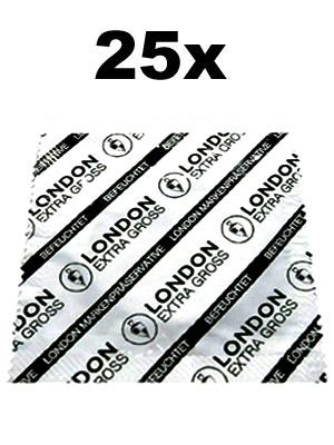 25 x London Condoms - extra large