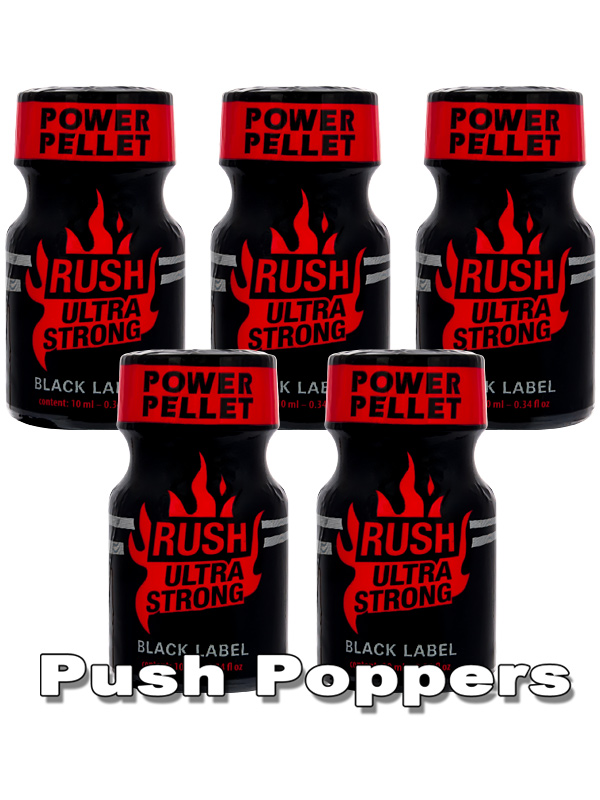 5 x RUSH ULTRA STRONG - BLACK LABEL small - PACK