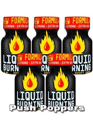 5 x LIQUID BURNING small - PACK