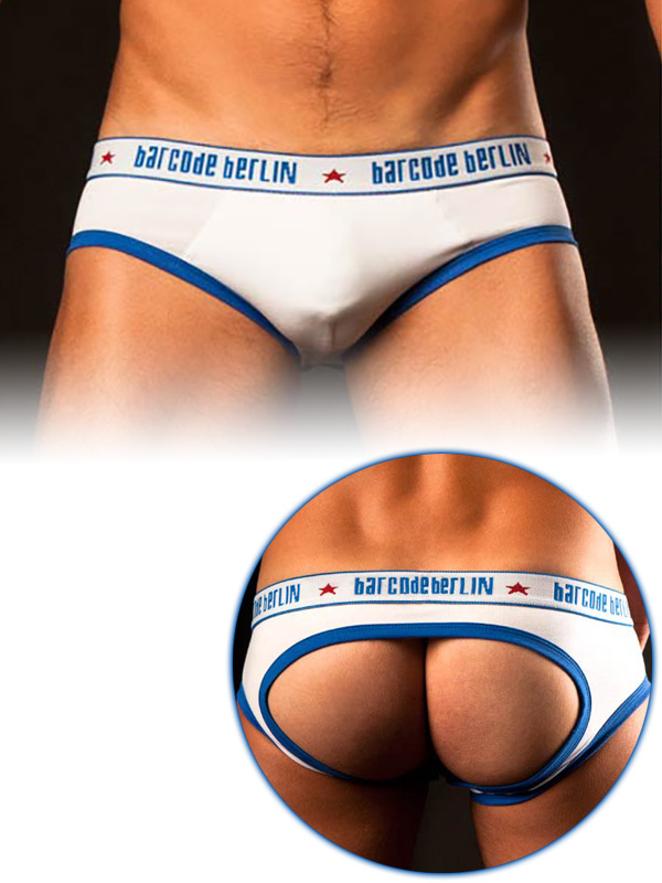 Brief Tyson Hole - white/royal