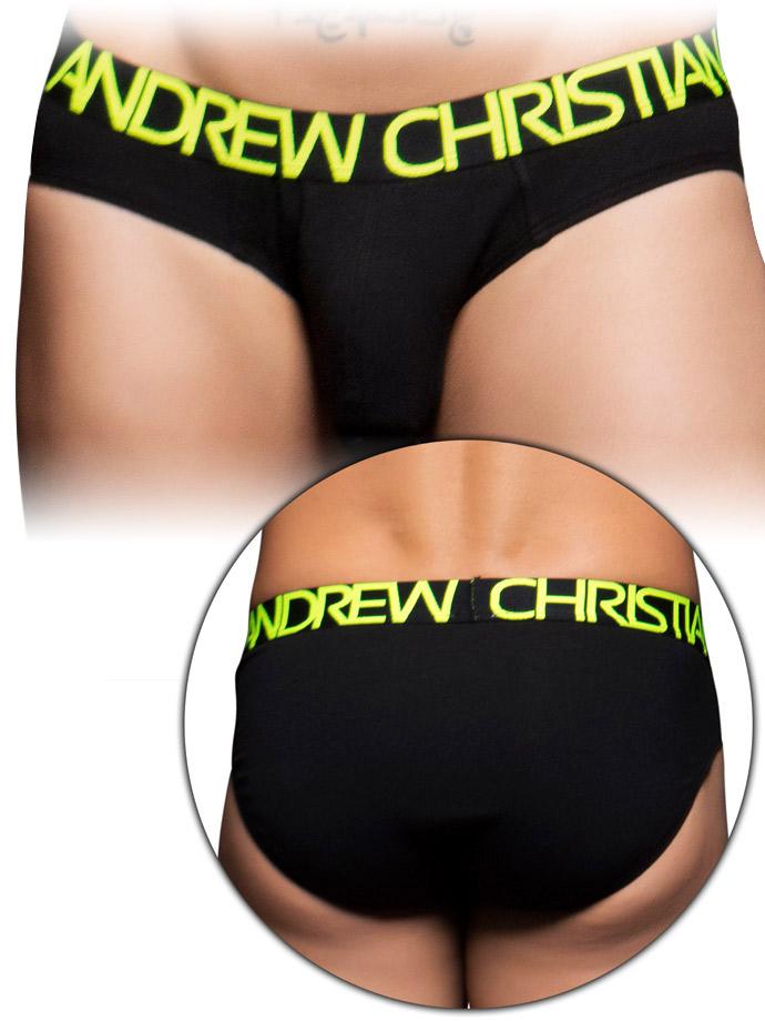 Andrew Christian - Happy Tagless Brief - Schwarz