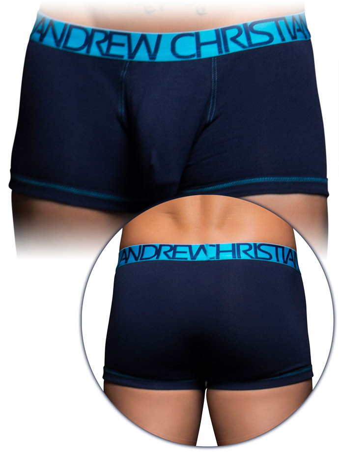 Andrew Christian - Almost Naked Cotton Tagless Boxer - Navy