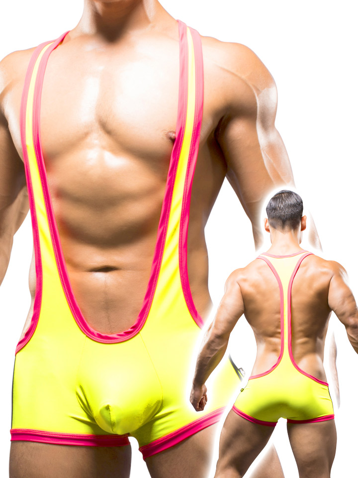 Andrew Christian - Wrestling Singlet Neongelb
