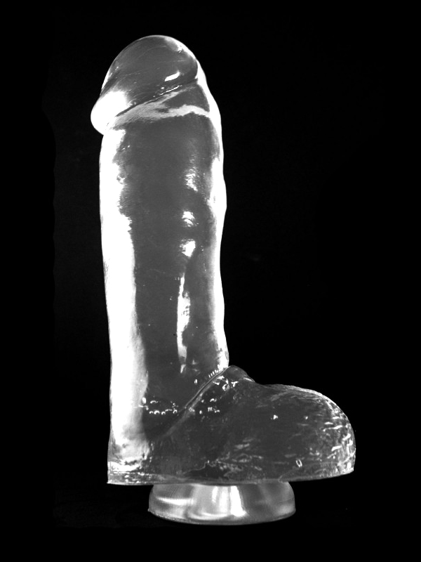 Dark Crystal Clear Large Dildo DCC48