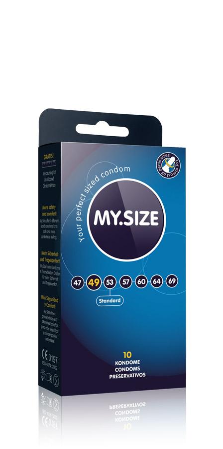 10 Stück MY.SIZE Kondome - Größe 49