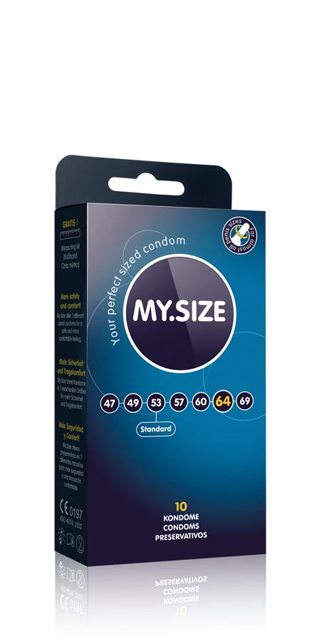 10 Stück MY.SIZE Kondome - Größe 64