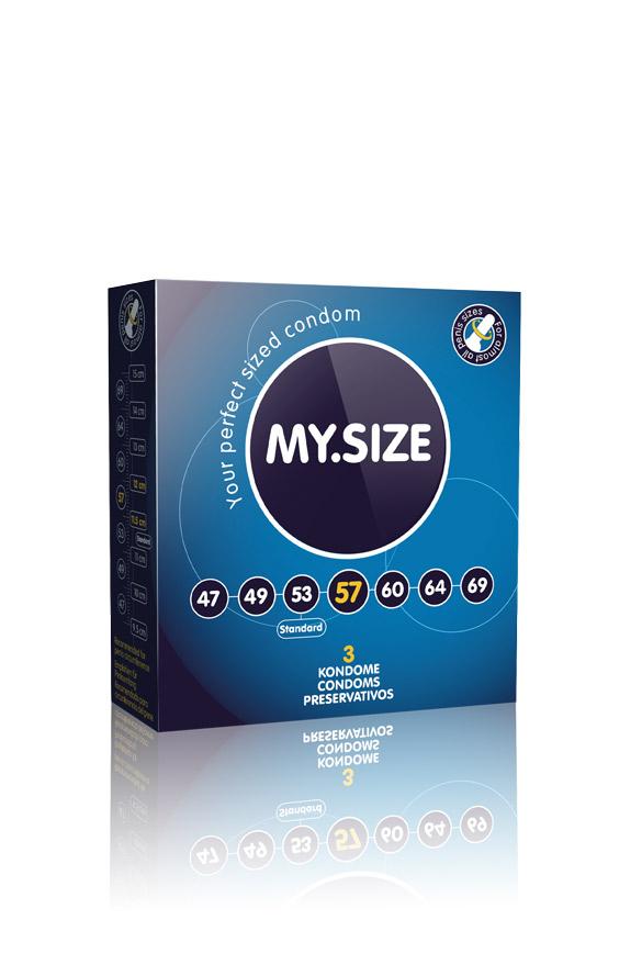 3 Stück MY.SIZE Kondome - Größe 57