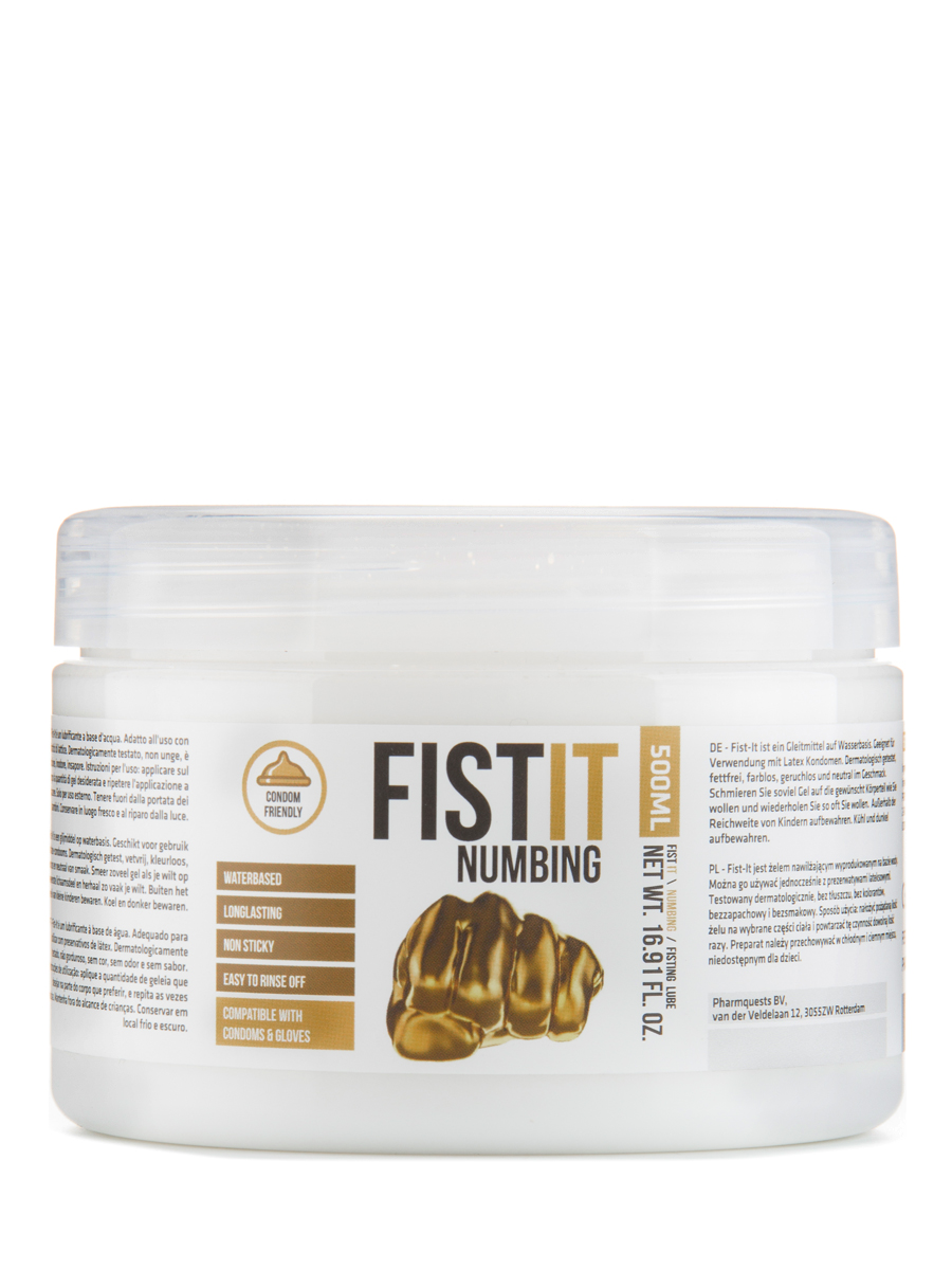 FistIt Numbing Water Based Lubricant 500 ml