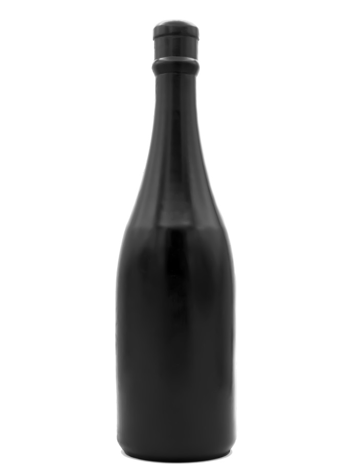 All Black Dildo 90 - Champagne Bottle Medium