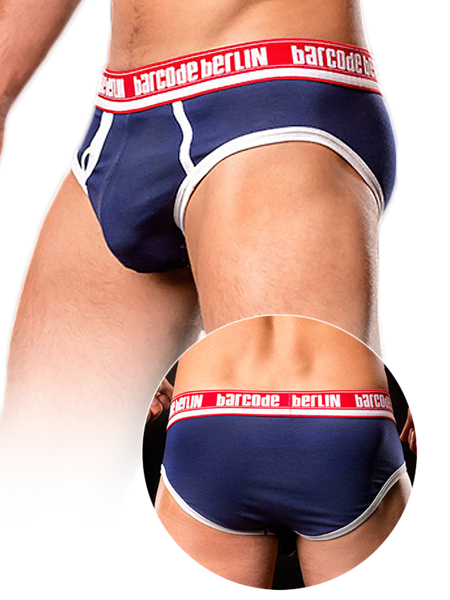 Barcode Brief Kreuzberg Navy/White/Red