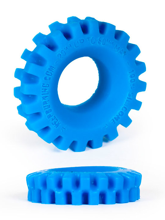 Burning Wheels 100% Silikon Cockring CK05 Blau