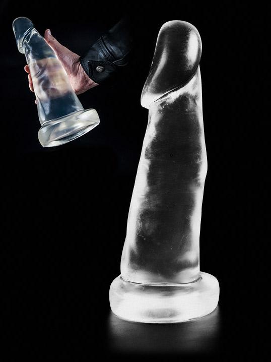 Dark Crystal Clear Large Dildo DCC21