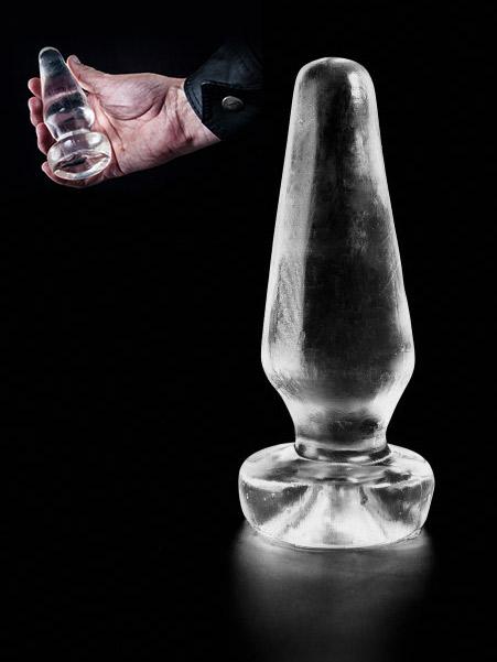 Dark Crystal Clear Butt Plug DCC40
