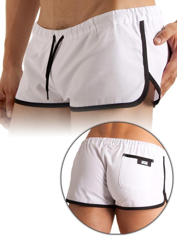 Barcode Gym Short White/Black