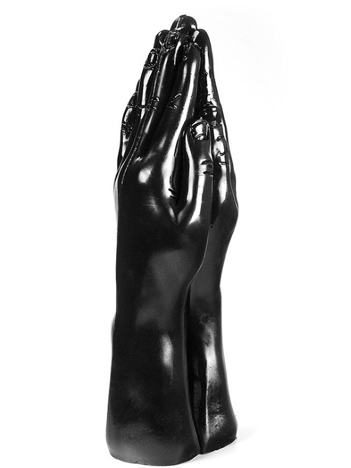 Dark Crystal Black Double Hand Dildo DC25