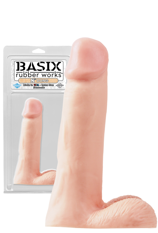 Basix 8 inch Dong Flesh with Balls