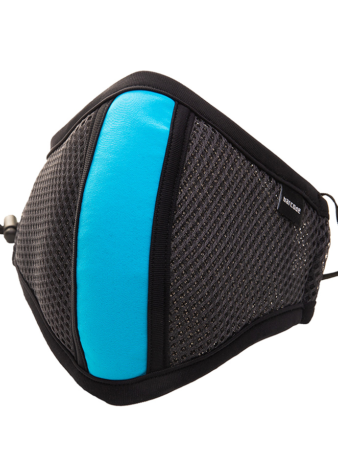 Barcode Berlin - Protective Mask with Filter - Grey/Neon Blue