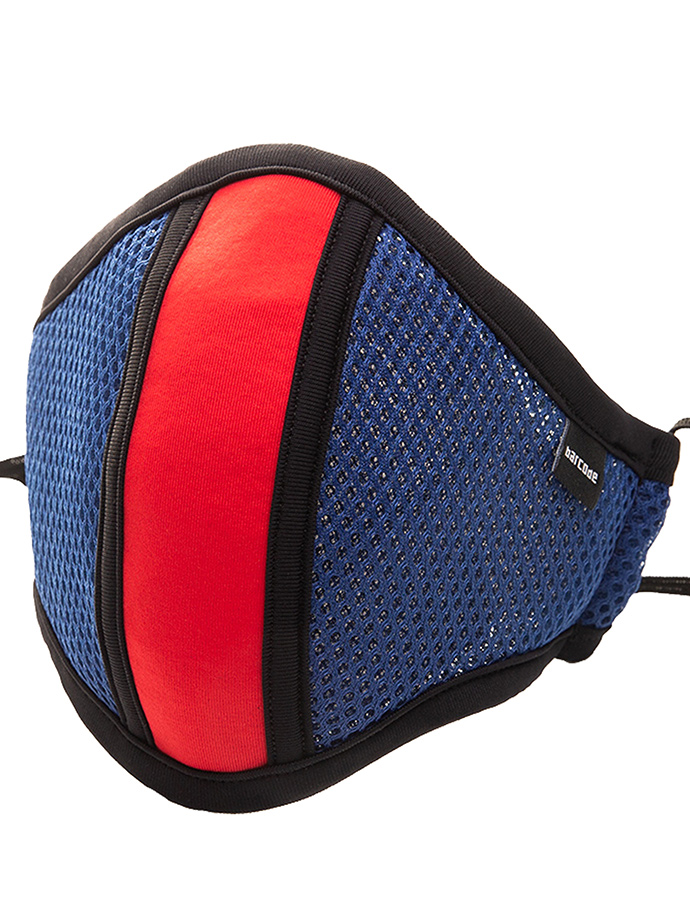 Barcode Berlin - Protective Mask with Filter - Blue/red