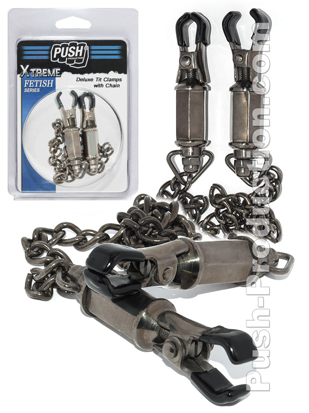 Nippelklemmen - Deluxe Tit Clamps With Chain