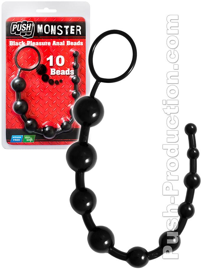 Push Monster - Black Pleasure Anal Beads