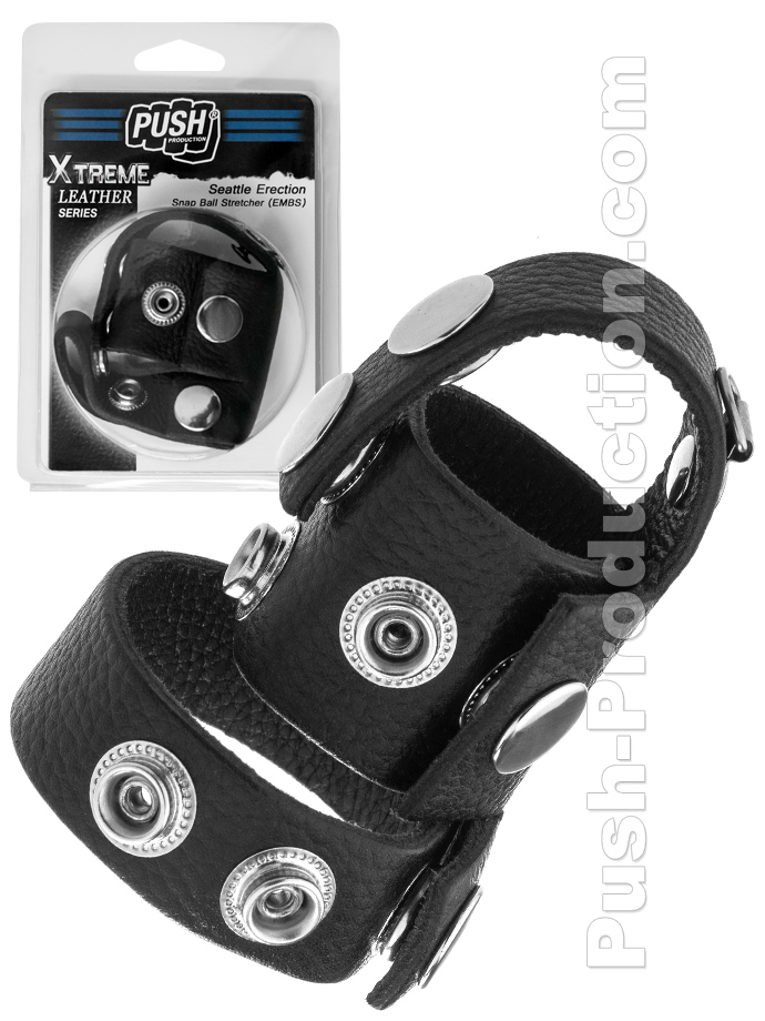 Push Xtreme Leather - Seattle Erection Snap Ball Stretcher EMBS