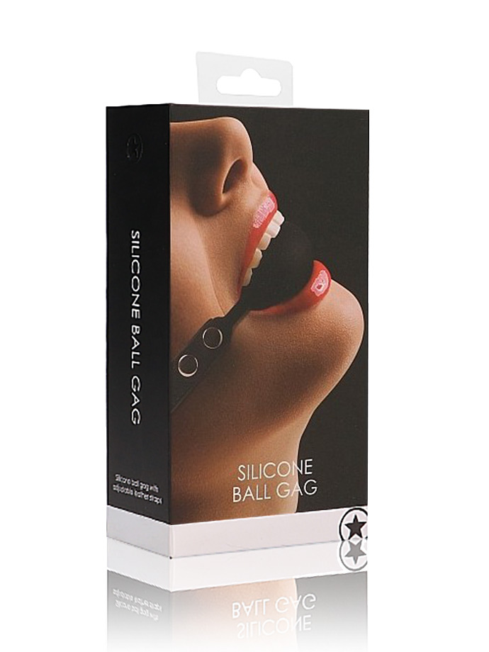 OUCH! Silicone Ball Gag - Black