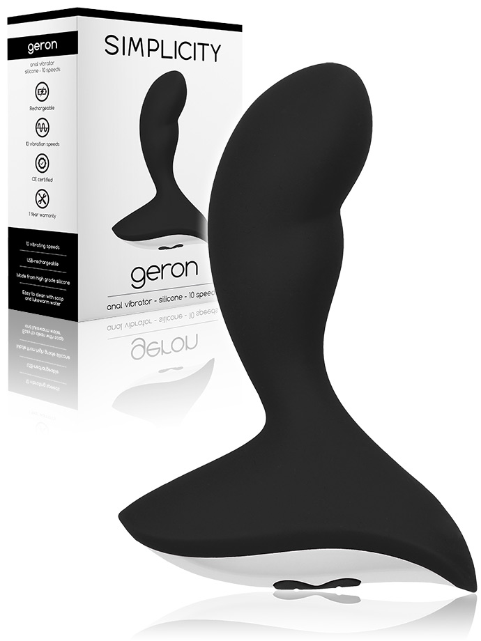 Geron - 10 Speed Anal Vibrator - Black