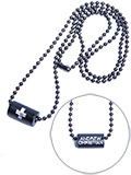 Andrew Christian - Black Cross Barrel Necklace