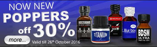 Poppers off 30%