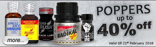 Poppers 40% off